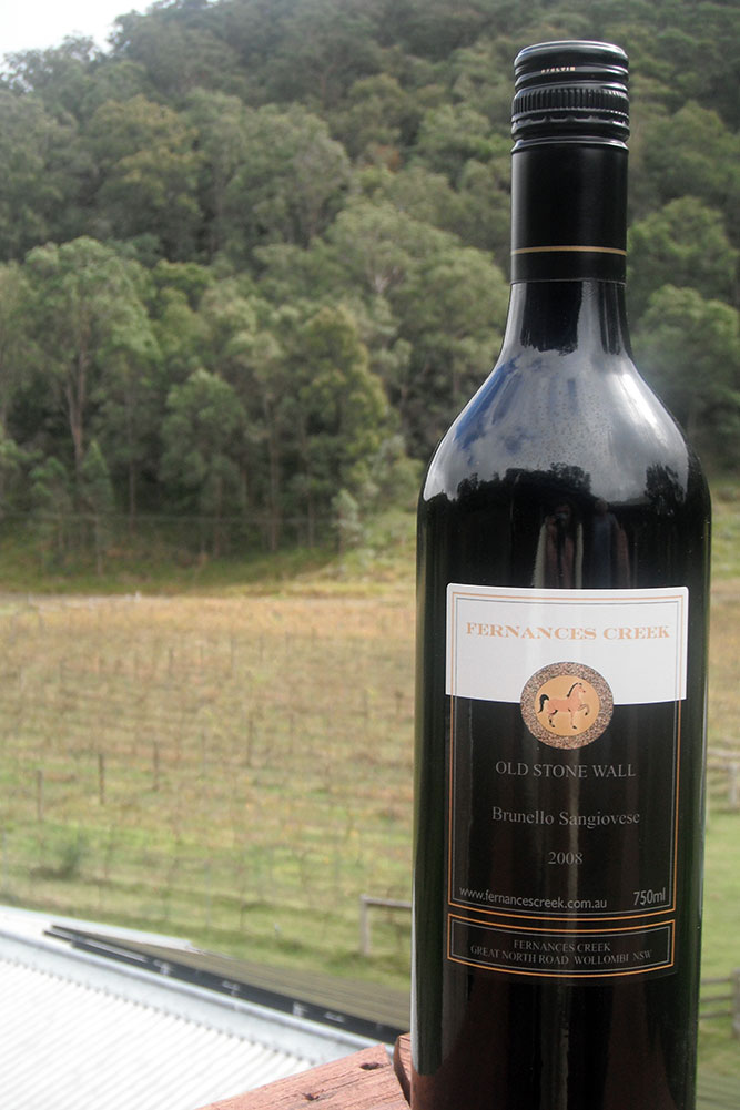 Sangiovese Wine, Fernances Creek, Hunter Valley
